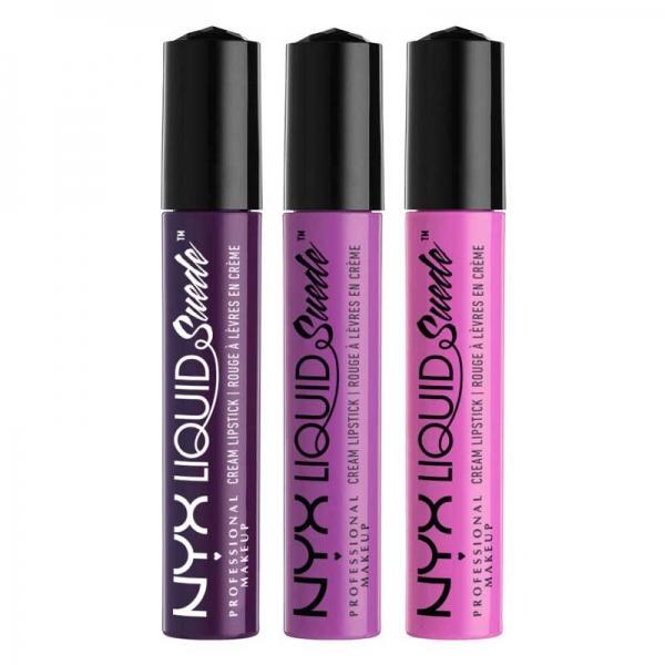 Set De 3 Rujuri Lichide Mate Nyx Professional Makeup Liquid Suede Cream 01