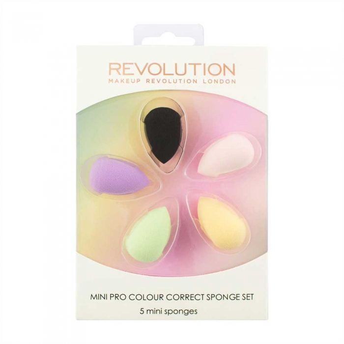 Set 5 Mini Buretei Makeup Revolution Mini Pro Colour Correct Sponge Set