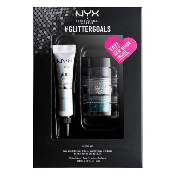 Kit cu 3 Nuante Glitter Nyx Professional GlitterGoals 01 10 gr