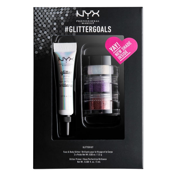 Kit cu 3 Nuante Glitter Nyx Professional GlitterGoals 03 10 gr