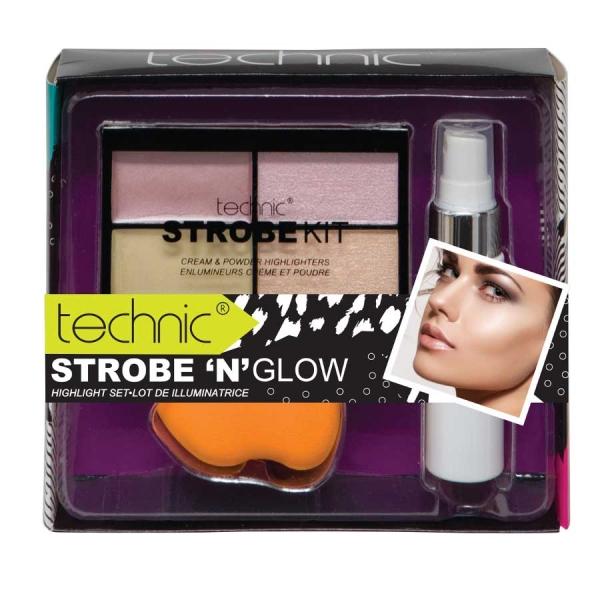 Set Make Up Cu 3 Produse Technic Strobe N Glow Highlight Set