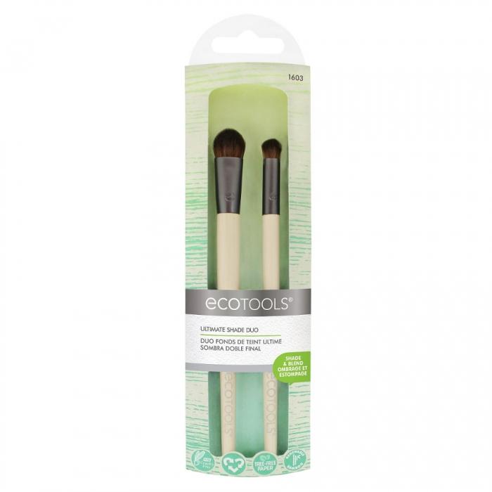 Set 2 pensule Ecotools Ultimate Shade Duo Shade and Blend pentru crearea de umbre si blending