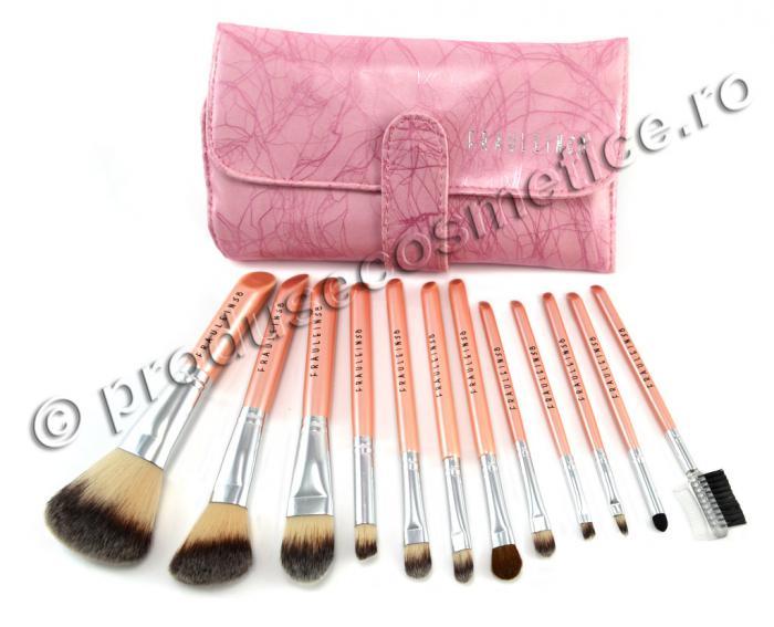 Set 12 Pensule Profesionale Fraulein38 Pink Premium