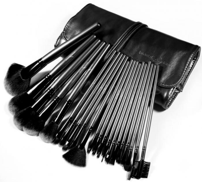 Set de 21 Pensule Profesionale pentru machiaj Top Quality Hair BLACK