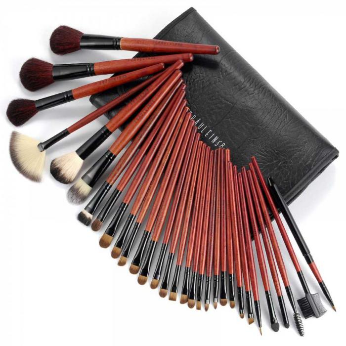 Set De 31 Pensule Profesionale Fraulein38 - Black Red
