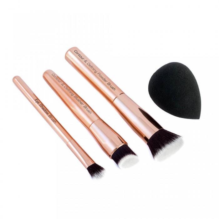 Set Multifunctional cu 3 Pensule Profesionale pentru Conturare si Blending ROYAL Contour Define Collection