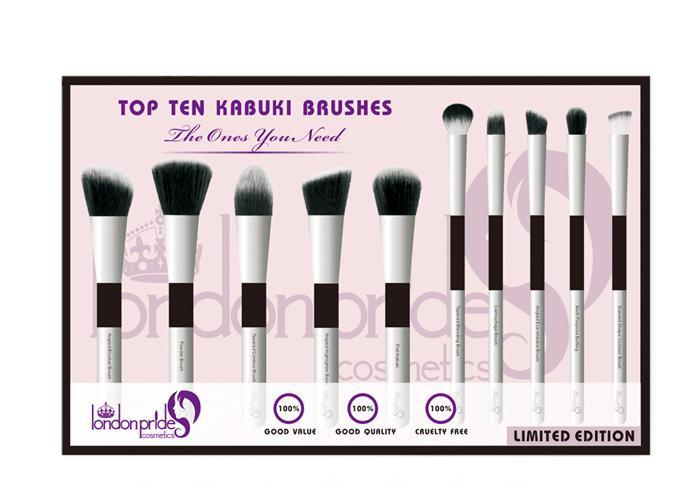 Trusa Profesionala Cu 10 Pensule London Pride Cosmetics Top Ten Kabuki