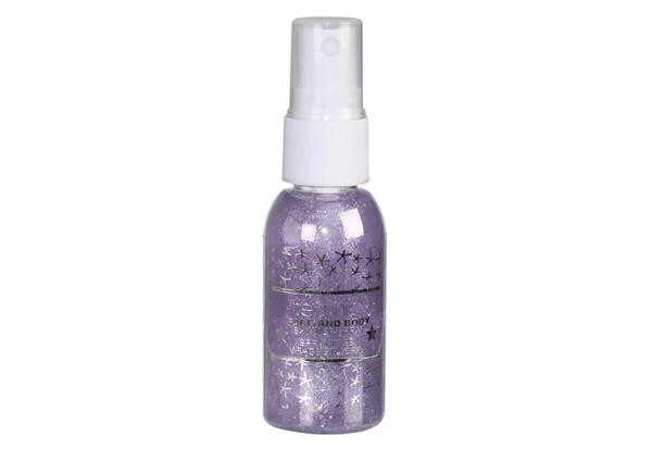 Spray Stralucitor Pentru Fata Si Corp Technic Face And Body Shimmer Violet 30 ml