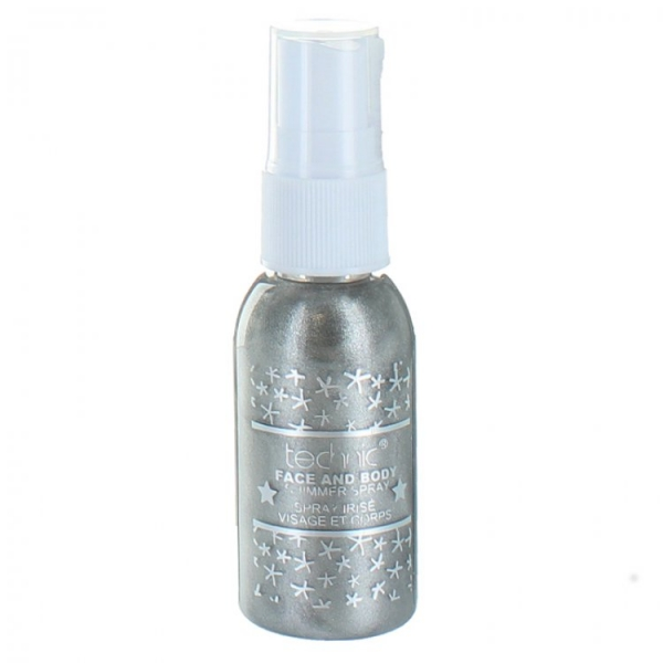 Spray Stralucitor Pentru Fata Si Corp Technic Face And Body Shimmer Grey 30 ml