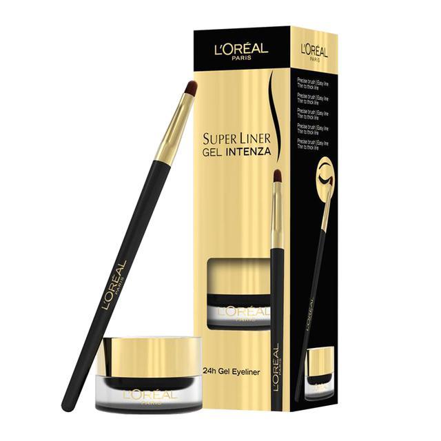 Gel Contur L Oreal Super Liner Intenza 02 Golden Black (Negru inchis) 2.8gr