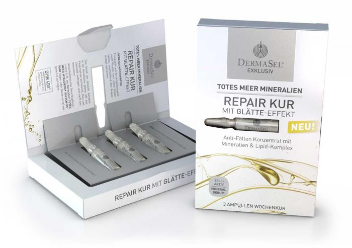 Tratament Fiole Antirid Reparator Dermasel - 3x1 ml