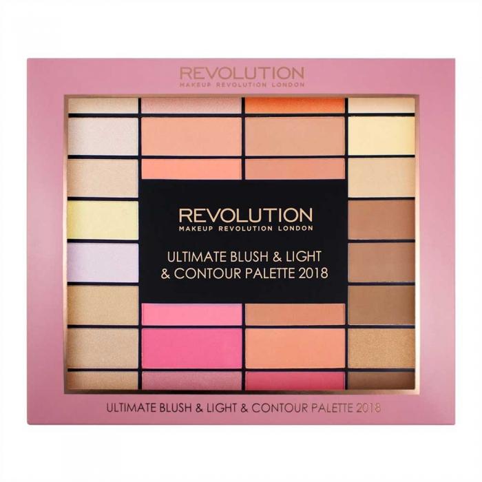 Trusa pentru Conturare Makeup Revolution Ultimate Blush Light Contour 2018 32 nuante