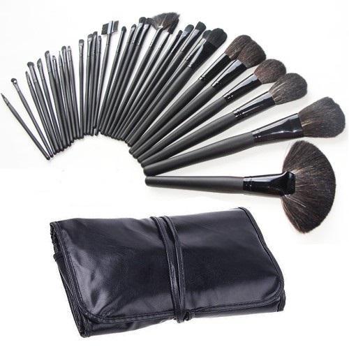 Set de 32 Pensule Profesionale din Par Natural Top Quality Hair Black