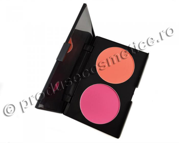 Trusa Profesionala de Blush-uri Fraulein38 Blush DUO - Peach & Pink