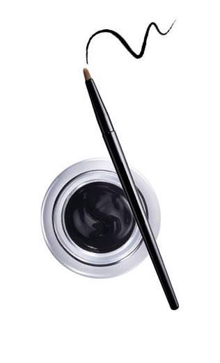 Gel Contur de Ochi cu Pensula Ultra-Rezistent Ushas Gel Eyeliner-Negru