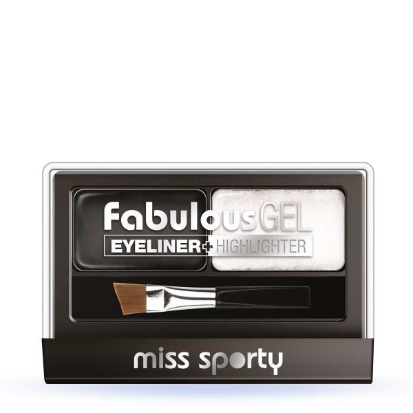 Paleta Tus De Ochi Si Iluminator Miss Sporty Fabulous Gel-Black&White