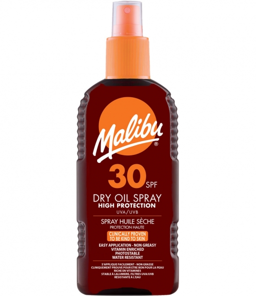 Ulei De Plaja Malibu Dry Oil Spray Cu SPF30 200 ml
