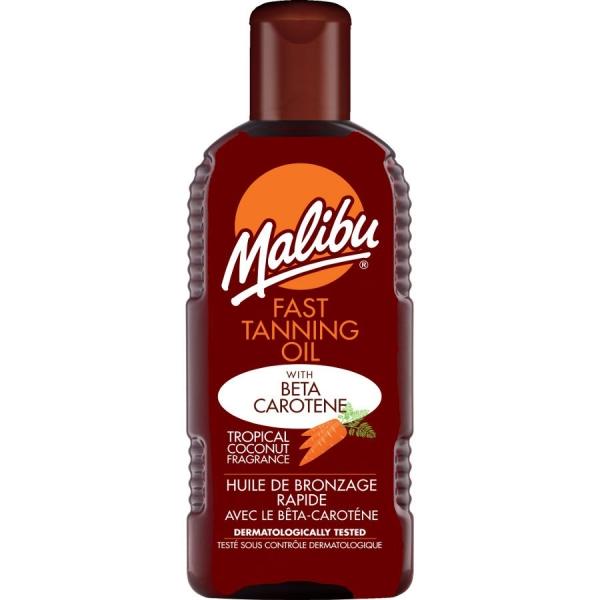 Ulei Pentru Accelerarea Bronzului Cu Beta Caroten Si Ulei De Cocos Malibu Fast Tanning Oil 200 ml