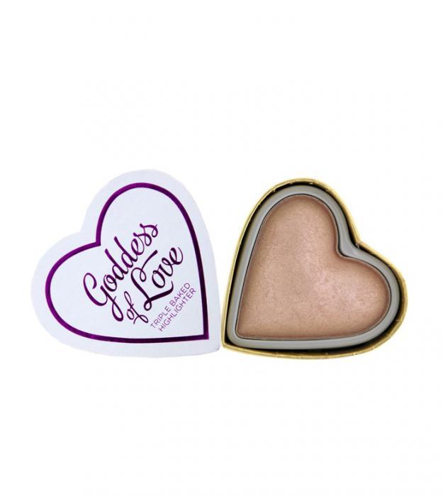 Iluminator Makeup Revolution I Heart Makeup Blushing Hearts Baked Highlighter Goddess Of Faith 10g
