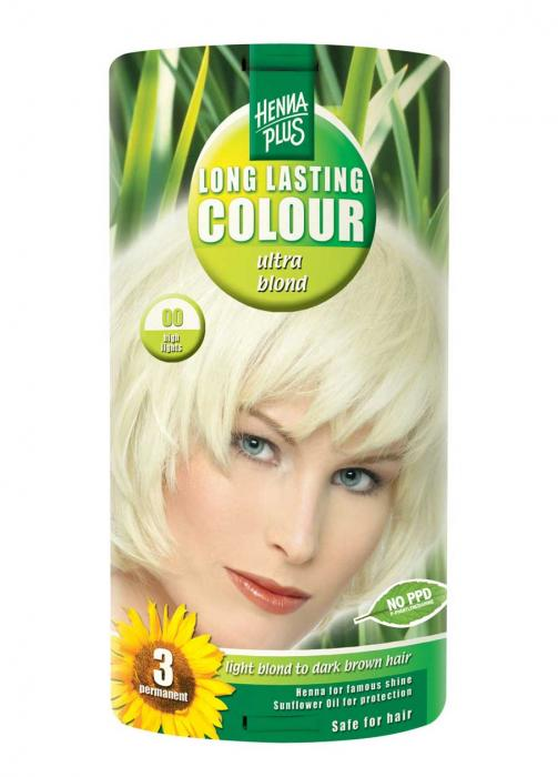 Vopsea De Par HennaPlus Long Lasting 10 High Light Blond