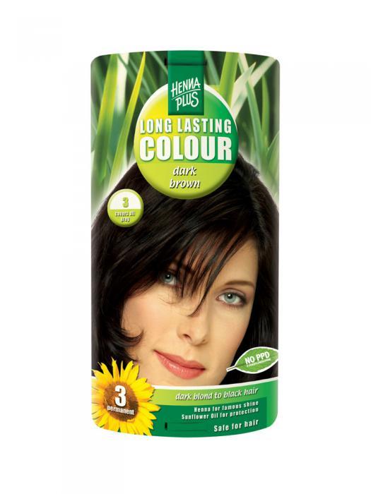 Vopsea de Par HennaPlus Long Lasting Colour Dark Brown 3