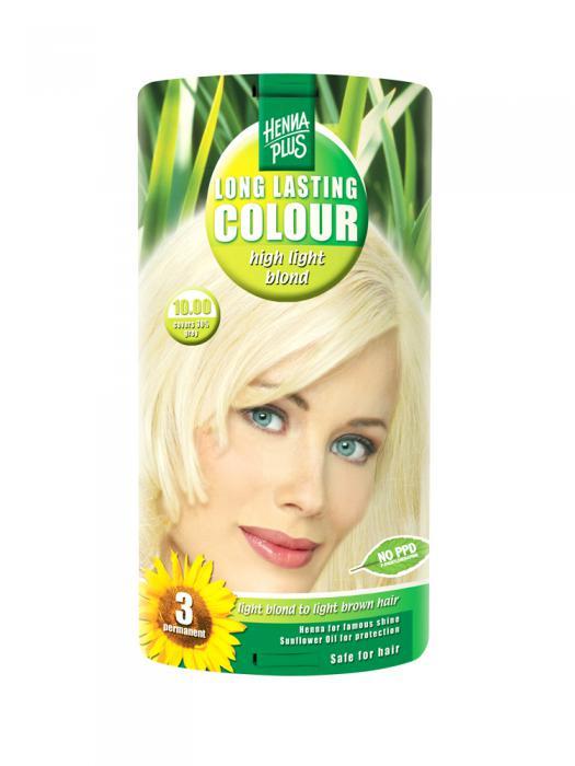 Vopsea de Par HennaPlus Long Lasting Colour - High Light Blond 10.00