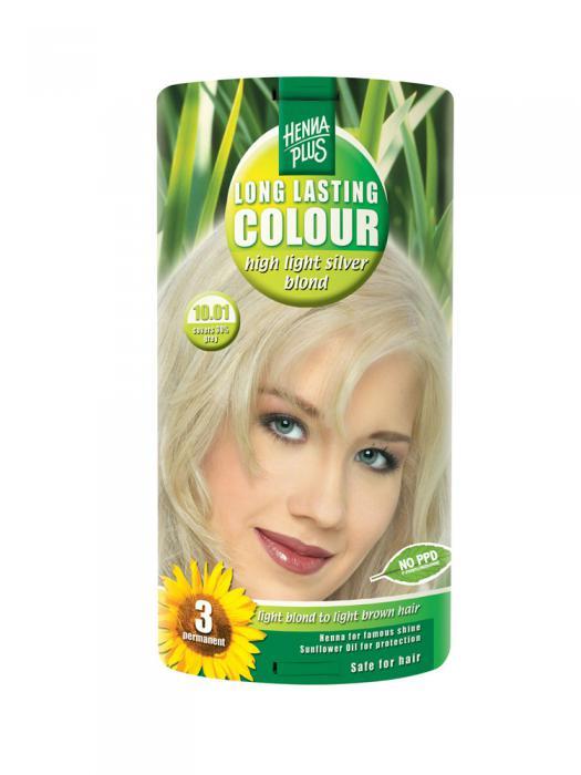Vopsea de Par HennaPlus Long Lasting Colour - High Light Silver Blond