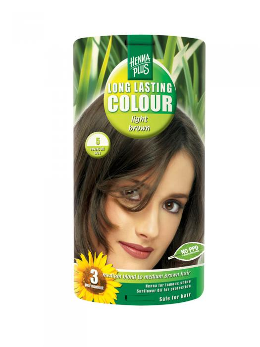 Vopsea de Par HennaPlus Long Lasting Colour - Light Brown 5