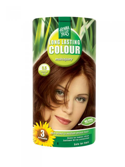 Vopsea de Par HennaPlus Long Lasting Colour - Mahogany 5.5-big