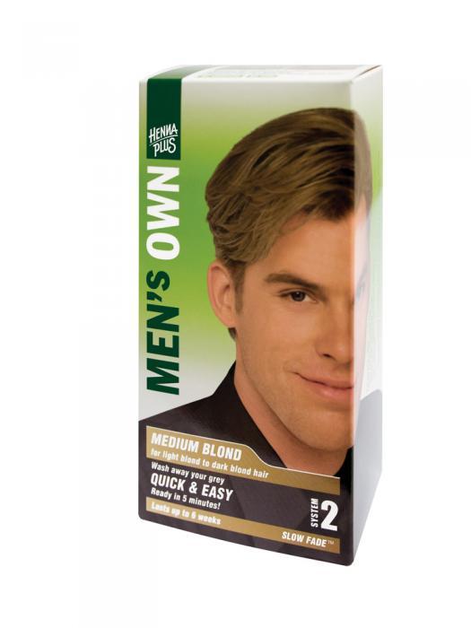 Vopsea de Par pentru Barbati HennaPlus Men s Own Medium Blond