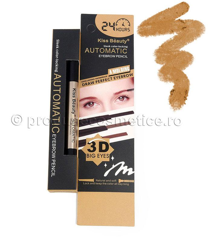 Creion De Sprancene Automat 3d Kiss Beauty - 02 Medium Blonde