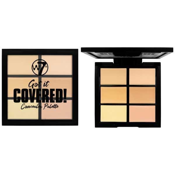 Paleta Anti Cearcane cu 6 Corectoare Cremoase W7 Got It Covered Concealer Palette 6g
