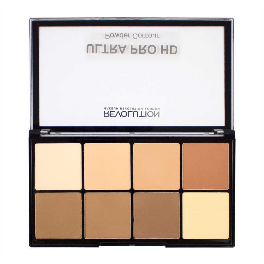 Paleta MAKEUP REVOLUTION HD Pro Powder Contour cu 8 Pudre Pentru Conturare Light Medium 20g