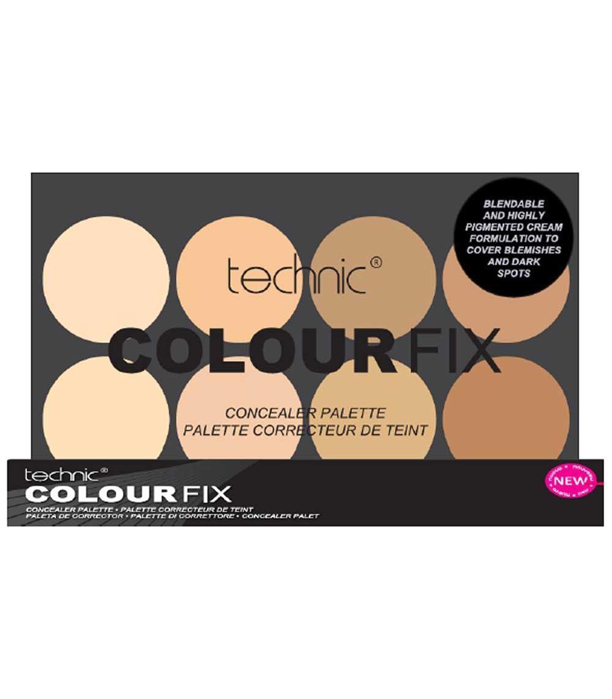 Trusa Profesionala Anti Cearcane Cu 8 Corectoare Cremoase TECHNIC Colour Fix Light 8x3.5g