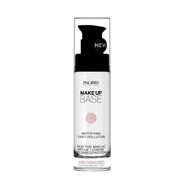 Baza de Machiaj Profesionala Matifianta si Protectoare cu Acid Hialuronic INGRID Make up 30ml