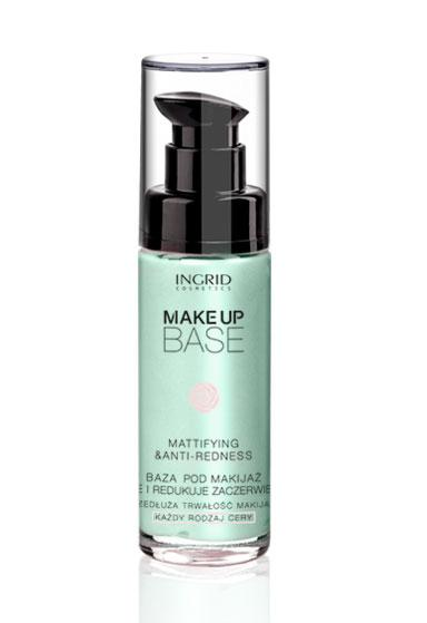 Baza de Machiaj Profesionala Matifianta si anti roseata INGRID Make up 30ml