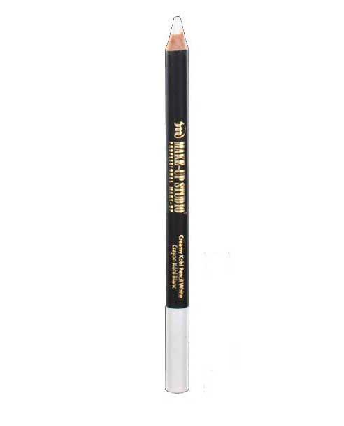 Creion Profesional Alb Pentru Luminozitate Kohl Make-up Studio - White