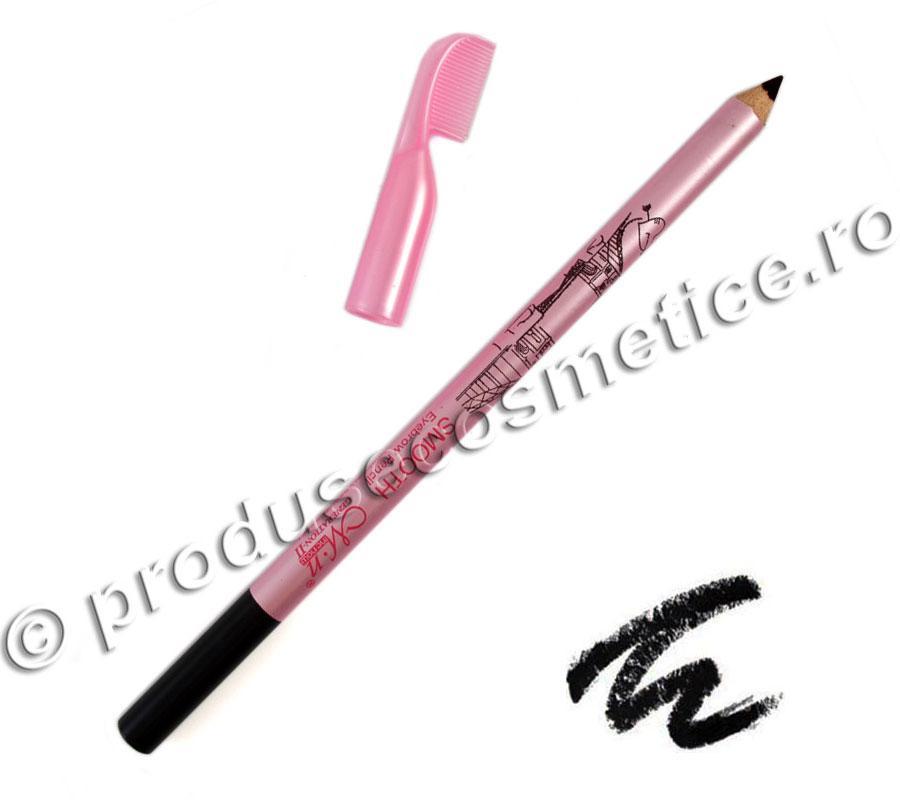 Creion De Sprancene Rezistent La Transfer Menow Cu Pieptene - 01 Negru