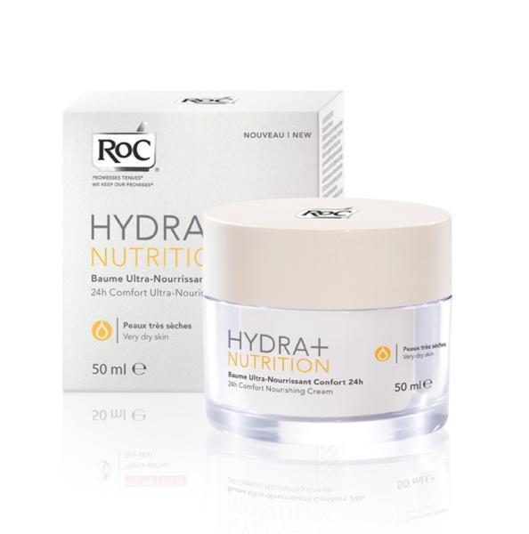 Balsam Nutritiv Roc Hydra+nutrition 24 Ore - 50 Ml