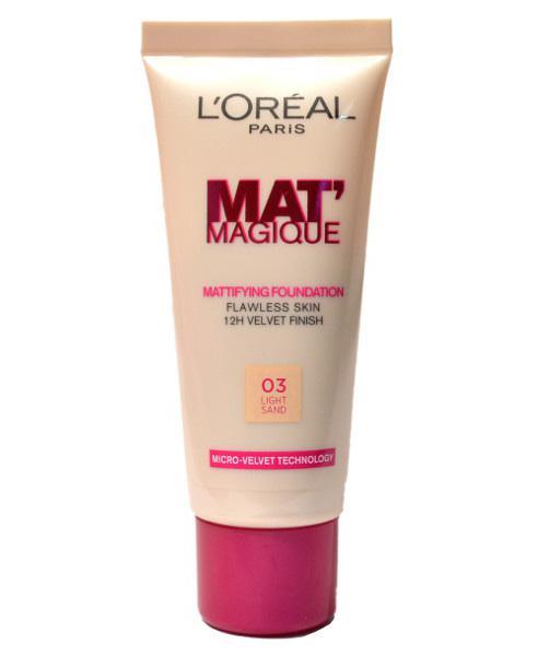 Fond De Ten L'oreal Mat Magique Mattifying - 03 Light Sand