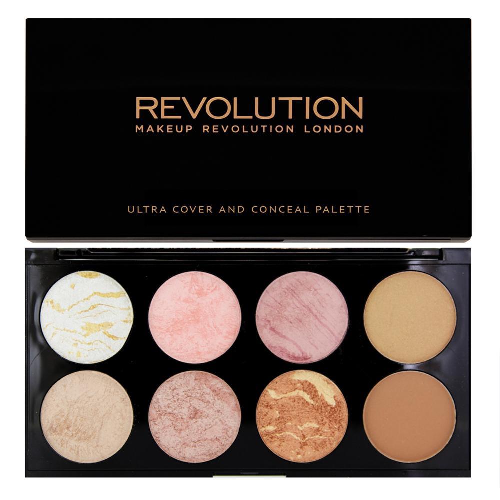 Trusa Cu 8 Blush-uri Makeup Revolution Ultra Blush-golden Sugar