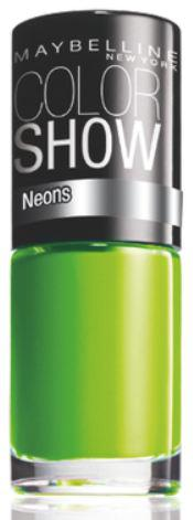 Oja Maybelline Color Show Neons - 190 Green Zing