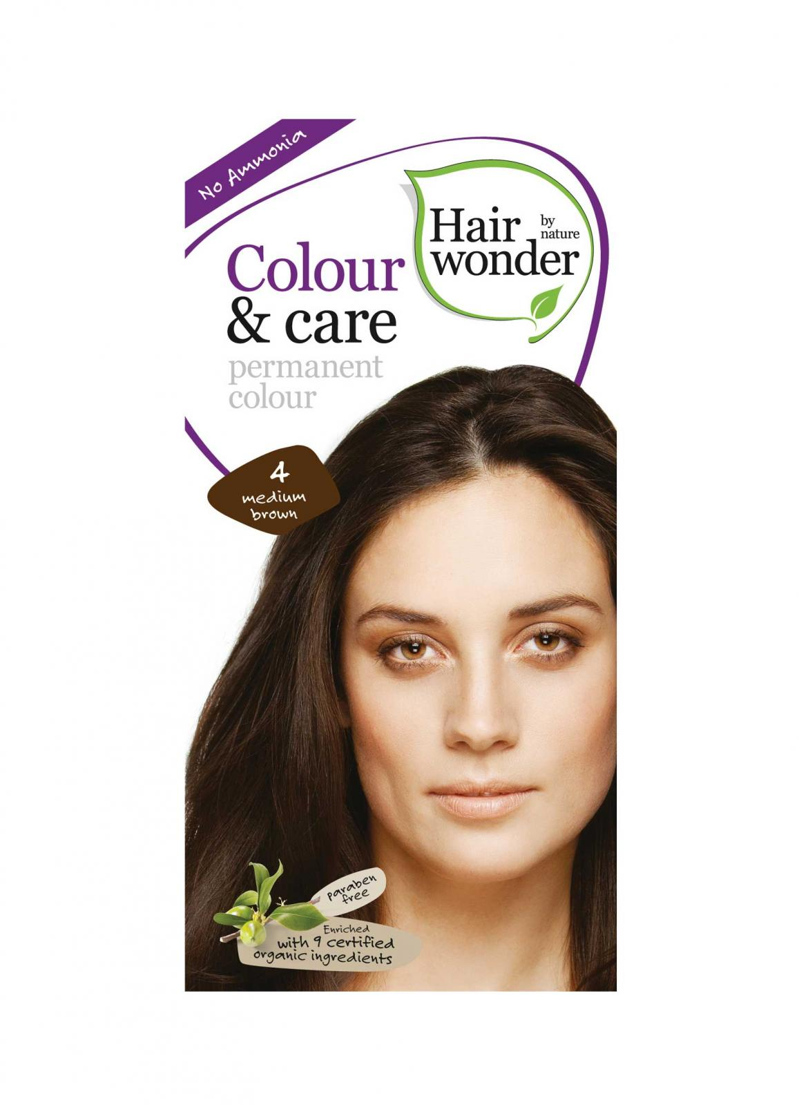 Vopsea De Par Fara Amoniac Hennaplus Hair Wonder-4 Medium Brown