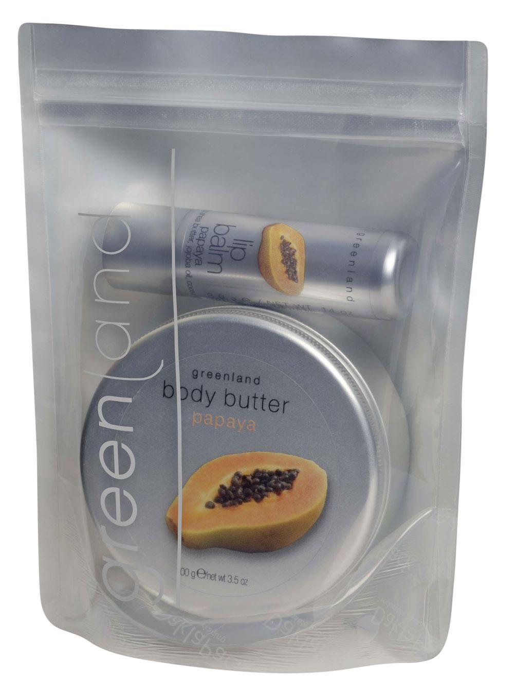 Pachet Promotional Greenland Balsam de Buze Unt de Corp cu Papaya