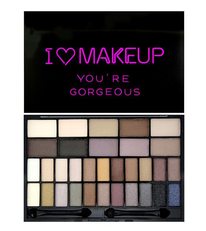 Paleta 32 Farduri Makeup Revolution I Heart Makeup You re Gorgeous