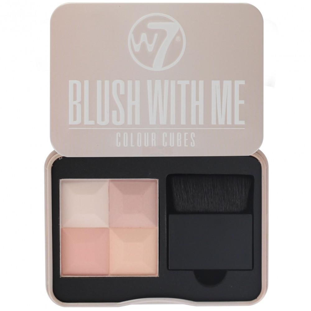 Paleta Profesionala Cu 4 Blush-uri W7 Blush With Me - Getting Hitched