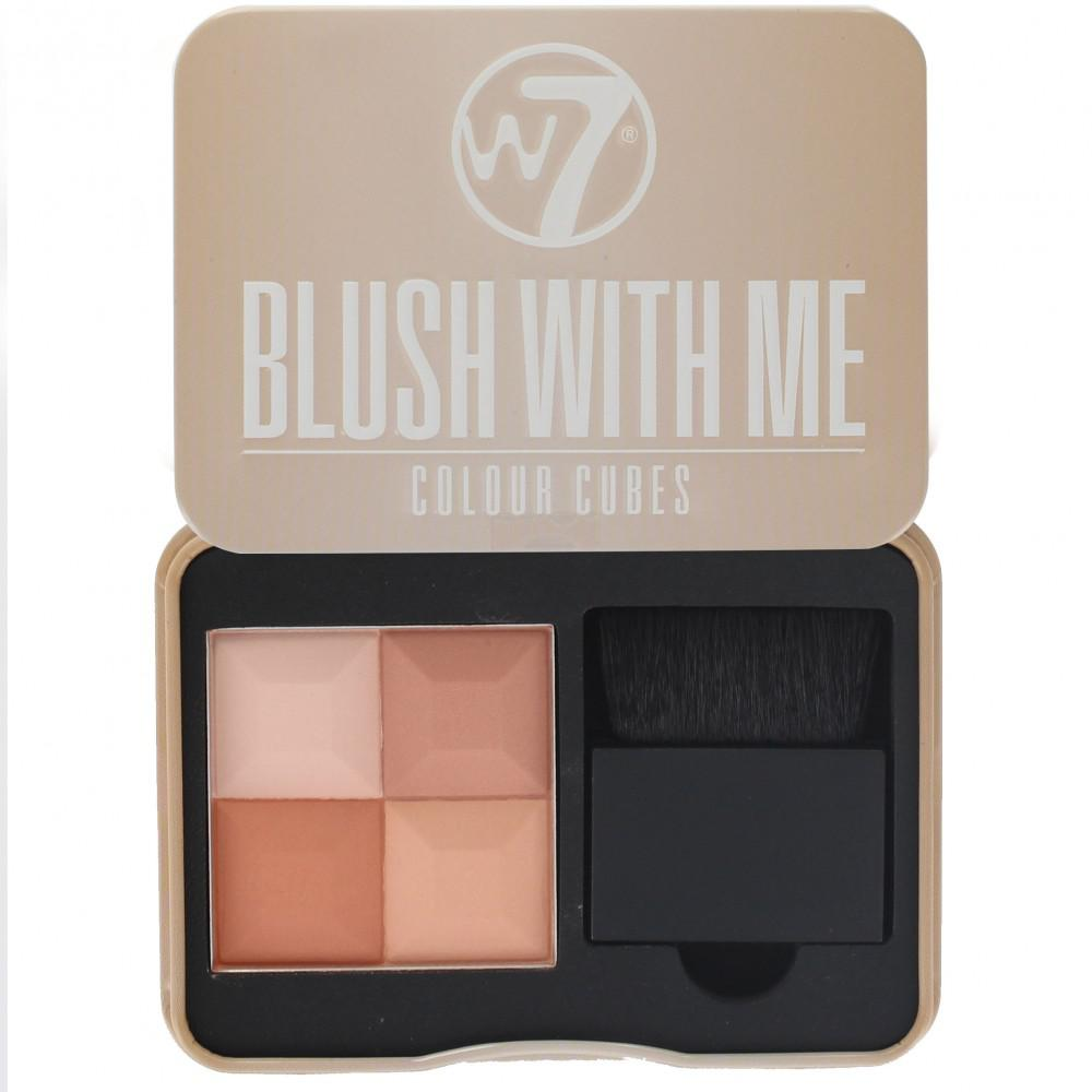 Paleta Profesionala Cu 4 Blush-uri W7 Blush With Me - Honeymoon