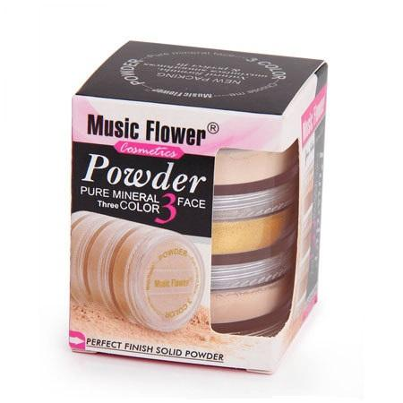 Pudra Minerala 3 Nuante Music Flower - Gold Iluminating