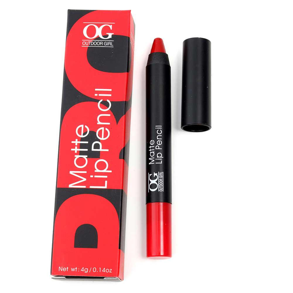 Ruj Creion Mat Outdoor Girl Matte Lip Pencil-607 Special Red