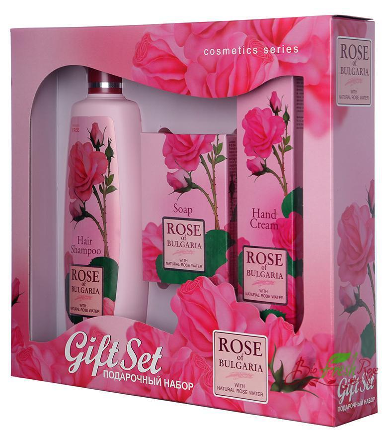 Set Cadou Rose Of Bulgaria: Sampon  Sapun Si Crema De Maini
